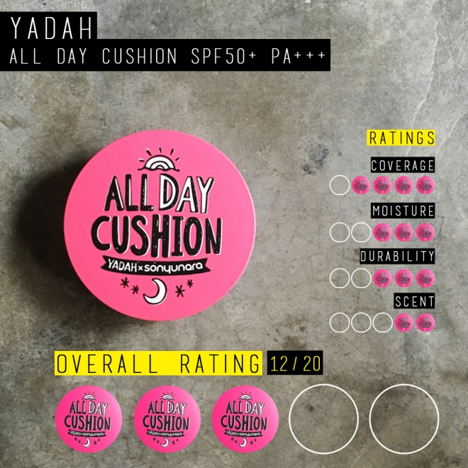 Yadah All Day Cushion SPF50+ PA+++ (Rating)