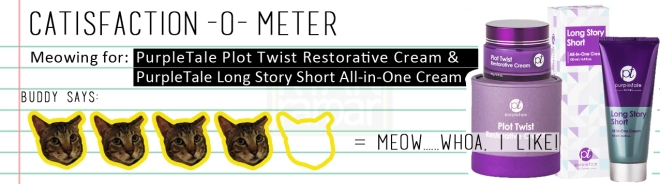 Catisfaction-o-meter (4 x PurpleTale Plot Twist & Long Story Short)