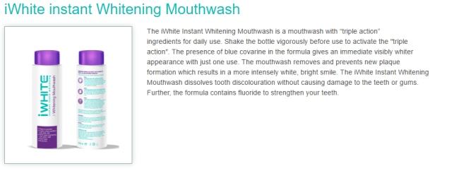 iWhite Instant Whitening Mouthwash