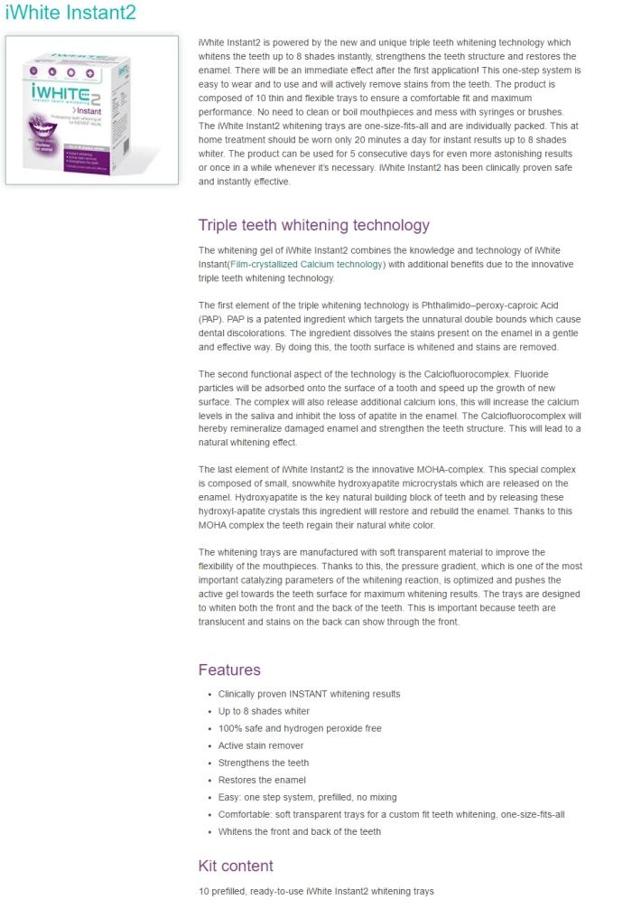 iWhite Instant2 (Info)