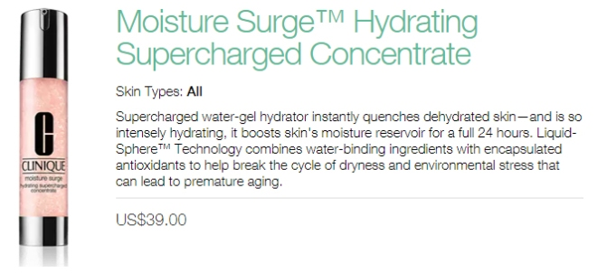 Clinique Moisture Surge Hydrating Supercharged Concentrate (info)