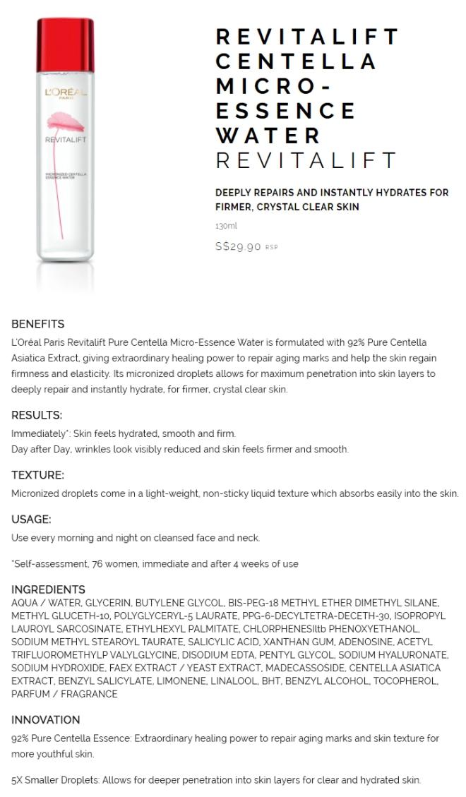 L'Oreal Micronized Centella Essence Water (ingo).JPG