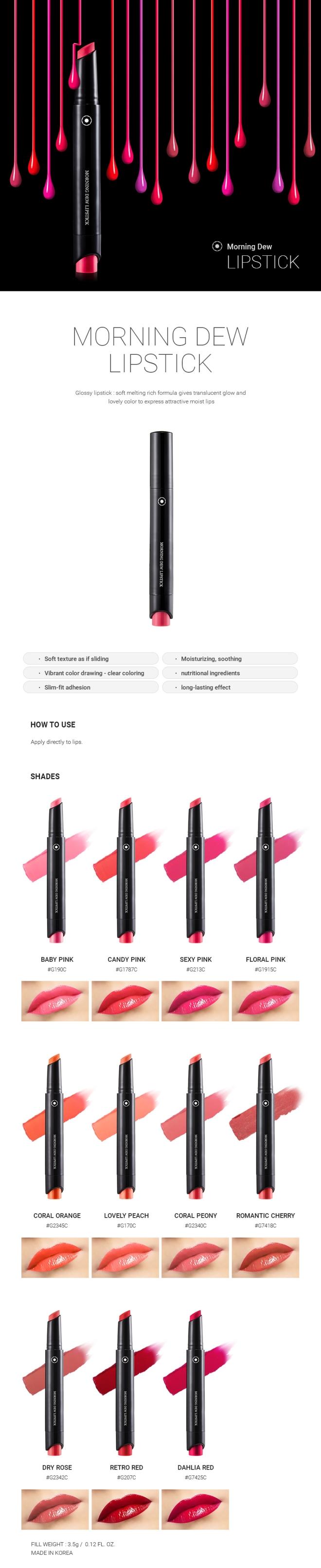 Morning Dew Lipstick (G2342C Dry Rose) - 02