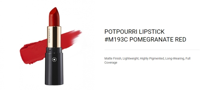 Potpourri Lipstick (M193C Pomegranate Red) - 01