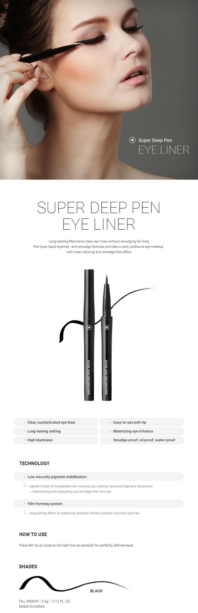 Super Deep Pen Eyeliner (Black) - 02