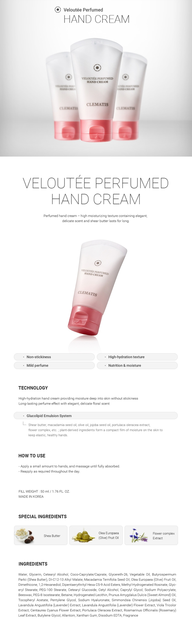 Veloutee Perfumed Hand Cream - 02