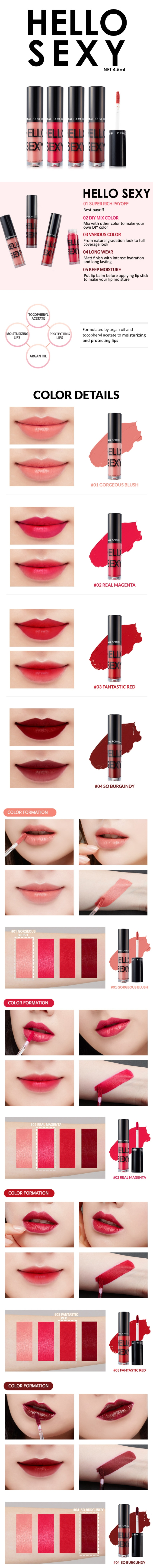 Hello Sexy Super Rich Liquid Lipstick (Info 01)